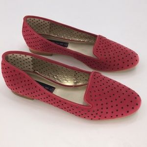 Steven by Steve Madden Kappa leather red flats